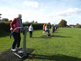 Kingston Field Outdoor Gym Equipment with Doctors 15