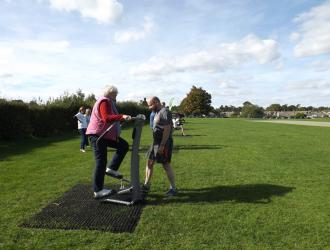 Kingston Field Outdoor Gym Equipment with Doctors 19