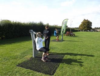 Kingston Field Outdoor Gym Equipment with Doctors 23